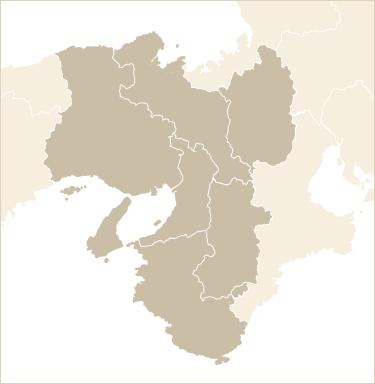関西地方の地図