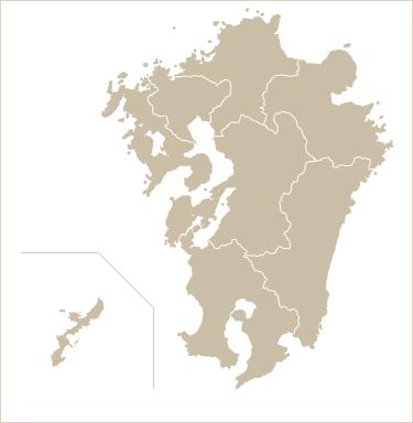九州・沖縄地方の地図